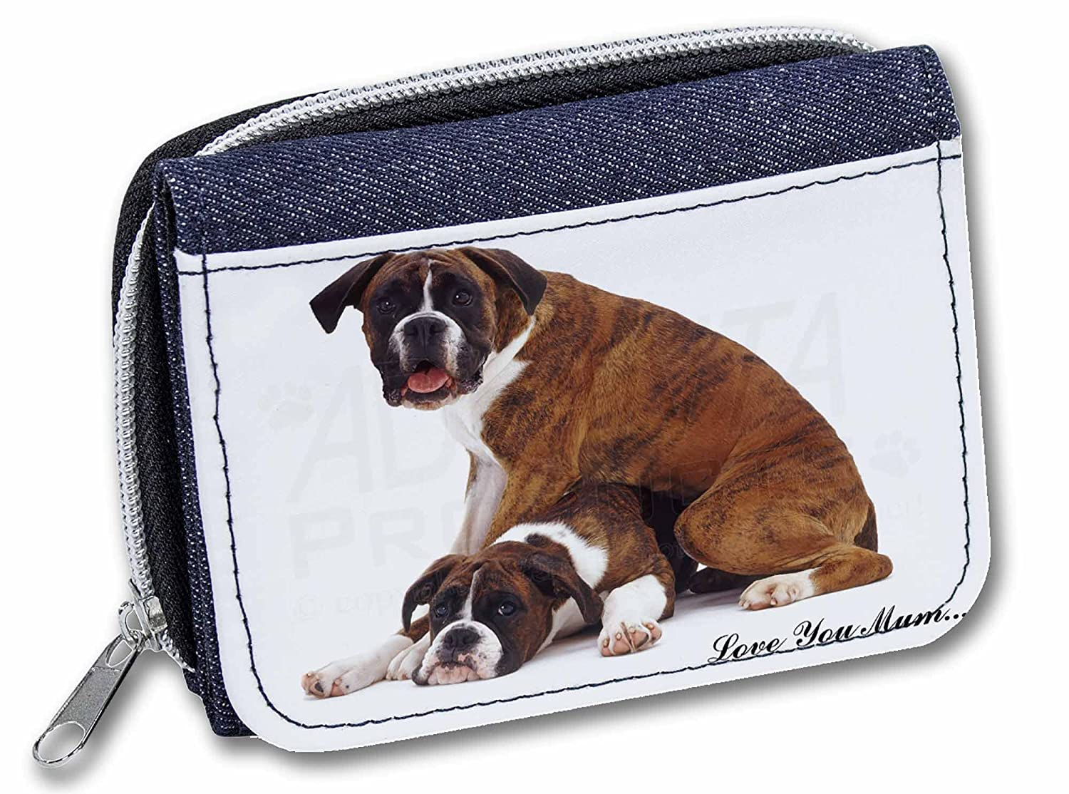 AD-B44lymJW Boxer Dogs /'Love You Mum/' Girls//Ladies Denim Purse Wallet Christmas