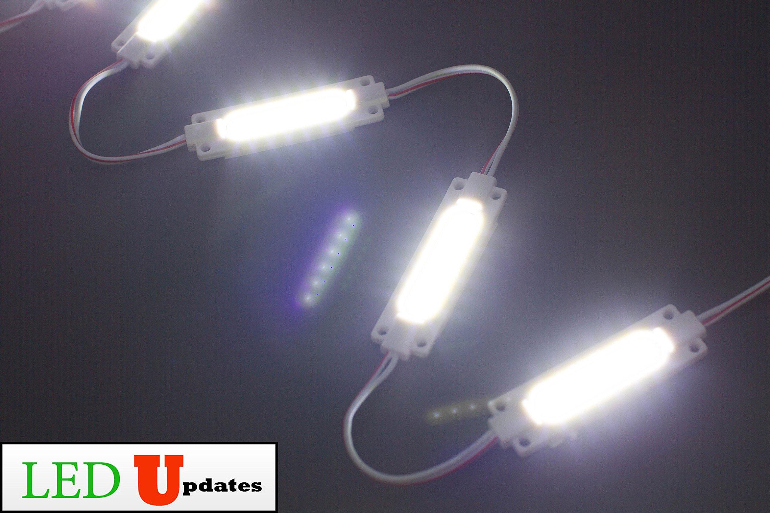 LEDUPDATES BRIGHTEST STOREFRONT WINDOW LED LIGHT COB WITH UL POWER SUPPLY BRIGHTER THAN 5050 5630 5730 2835 (20ft, White) by LEDUPDATES (Image #4)