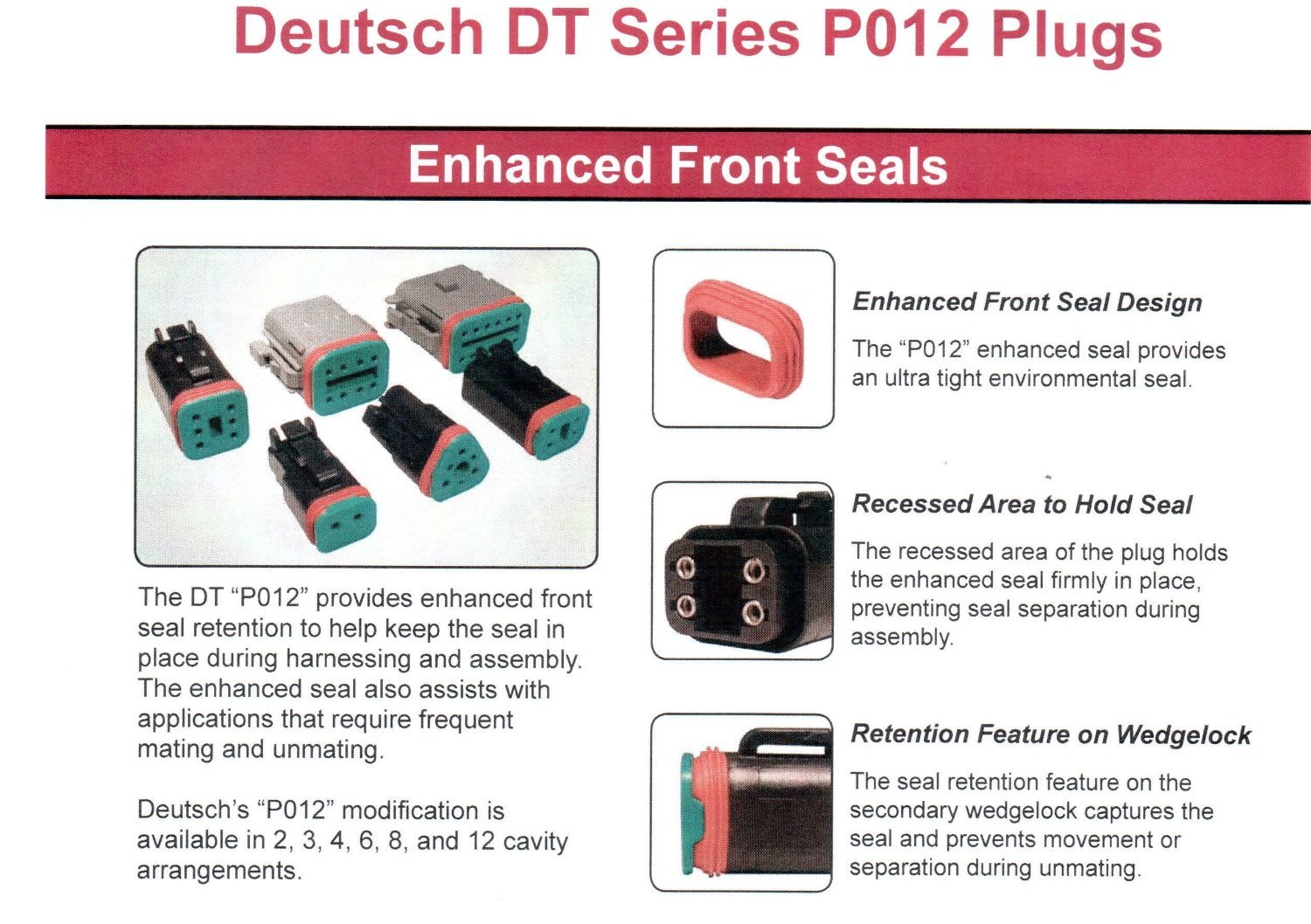 Caterpillar Kit CAT-175-3700 Deutsch Improved Seal DT-Series Field Service Kit with 4-Way Indent Crimp Tool and Extra Contacts: Environmentally Sealed Connectors for Caterpillar Electrical Repair by DELPHIKITS COMPANY (Image #5)