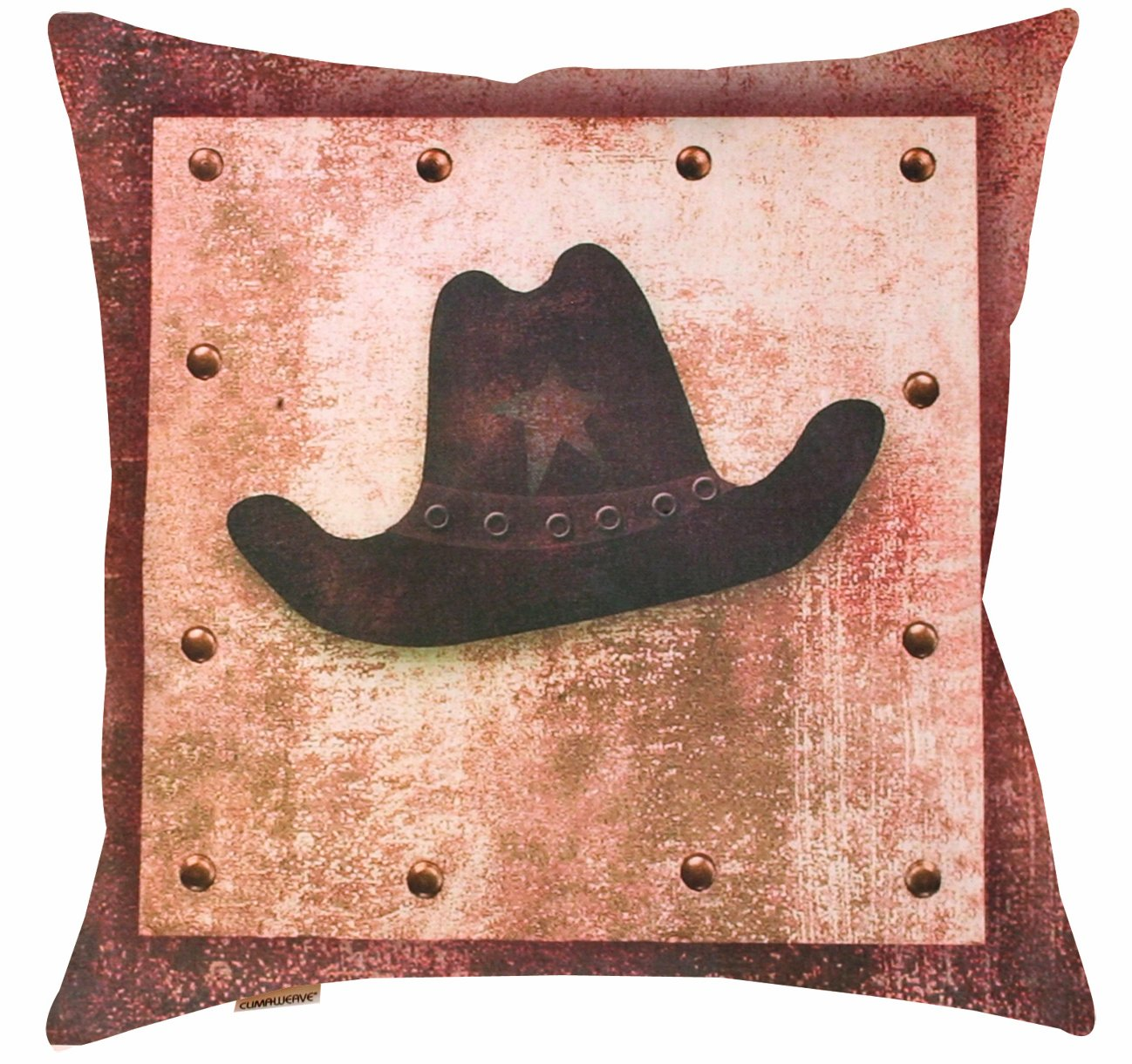 Manual Climaweave Indoor/Outdoor Throw Pillow, Saddle Up Hat, 20 X 20-Inch