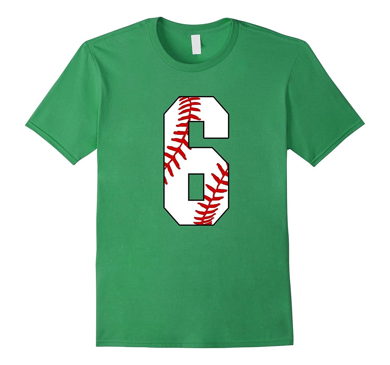 #6 Baseball 6th Birthday Boy Six Years Baseball Mom T-shirt-BN