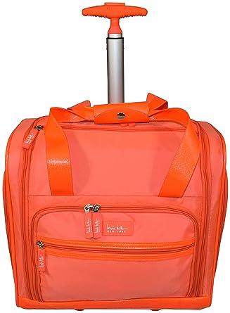c467347da57f Nicole Miller Nelly Rolling Under-Seat Luggage (Orange)