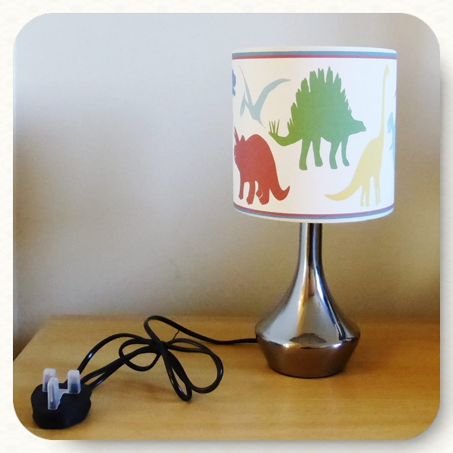 DINOSAUR LITTLE DINO BEDSIDE LAMP BOYS BEDROOM LIGHT LAMP