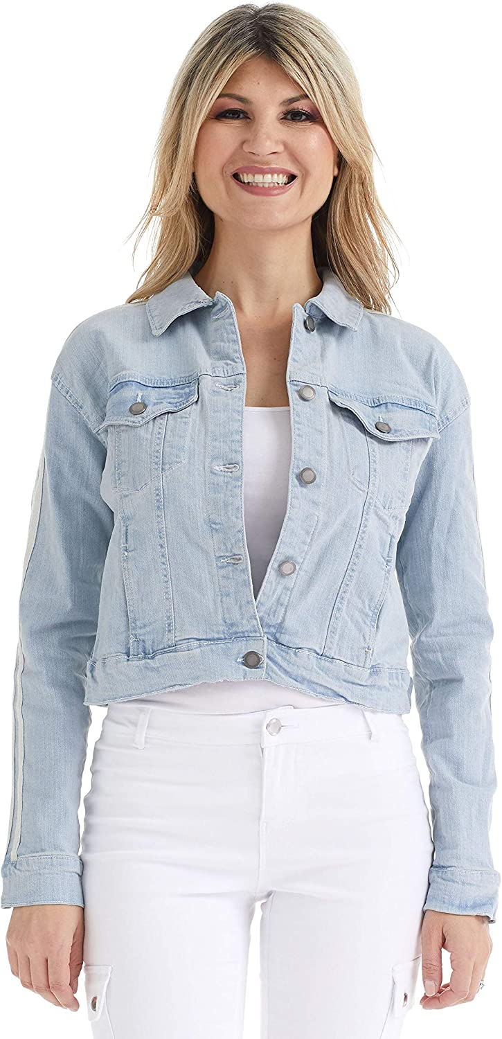Vintage Coats & Jackets | Retro Coats and Jackets Suko Jeans Womens Trucker Jacket - Stretch Denim $34.95 AT vintagedancer.com