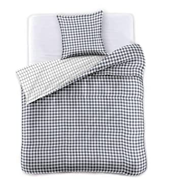 Decoking Premium 28377 Bettwäsche 155x220 1 Kissenbezug 80x80 Weiß