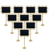Eurshine Mini Chalkboards Message board Easel Small Chalkboard Table Number Signs with Stand for Weddings, Parties, Table Numbers or Place Cards, Set of 10