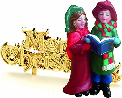 Creative Party BX338 Snowman and Merry Christmas Cake Toppers 2 Pcs