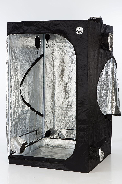 Heisenberg Growzelt Growbox Growschrank für Homegrowing, Indoor Pflanzenzucht, Größe ca. 120 x 120 x 200cm, schwarz