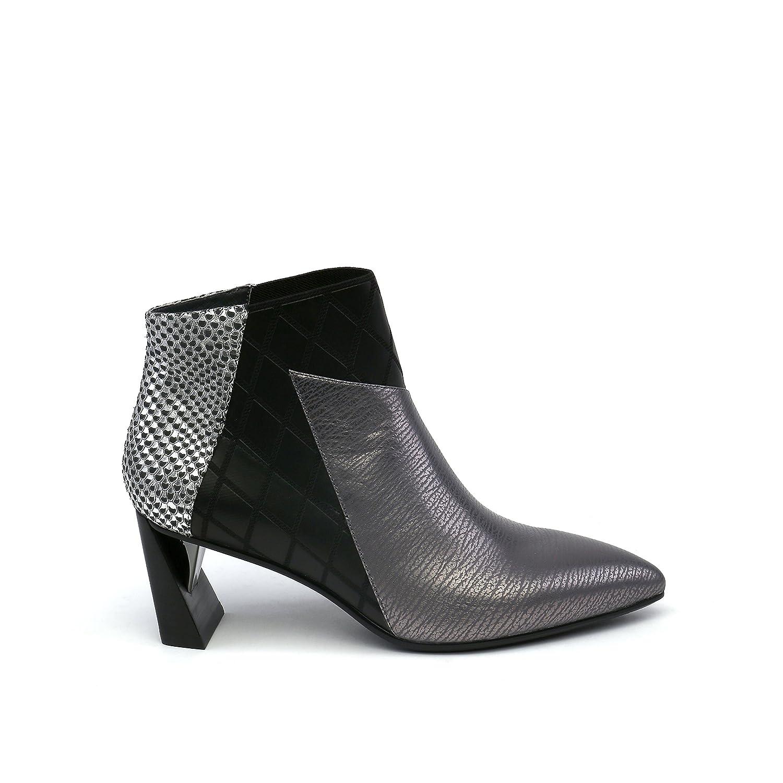 UNITED NUDE Women's Zink Mid Fashion Boot B075MYRPVT 41 Medium EU (10.5-11 US)|Gun Metal/Black/Silver