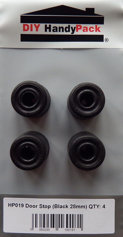 DIY HandyPack - 28mm Black Door Stop (Pack 4) DIY Trade Supplies