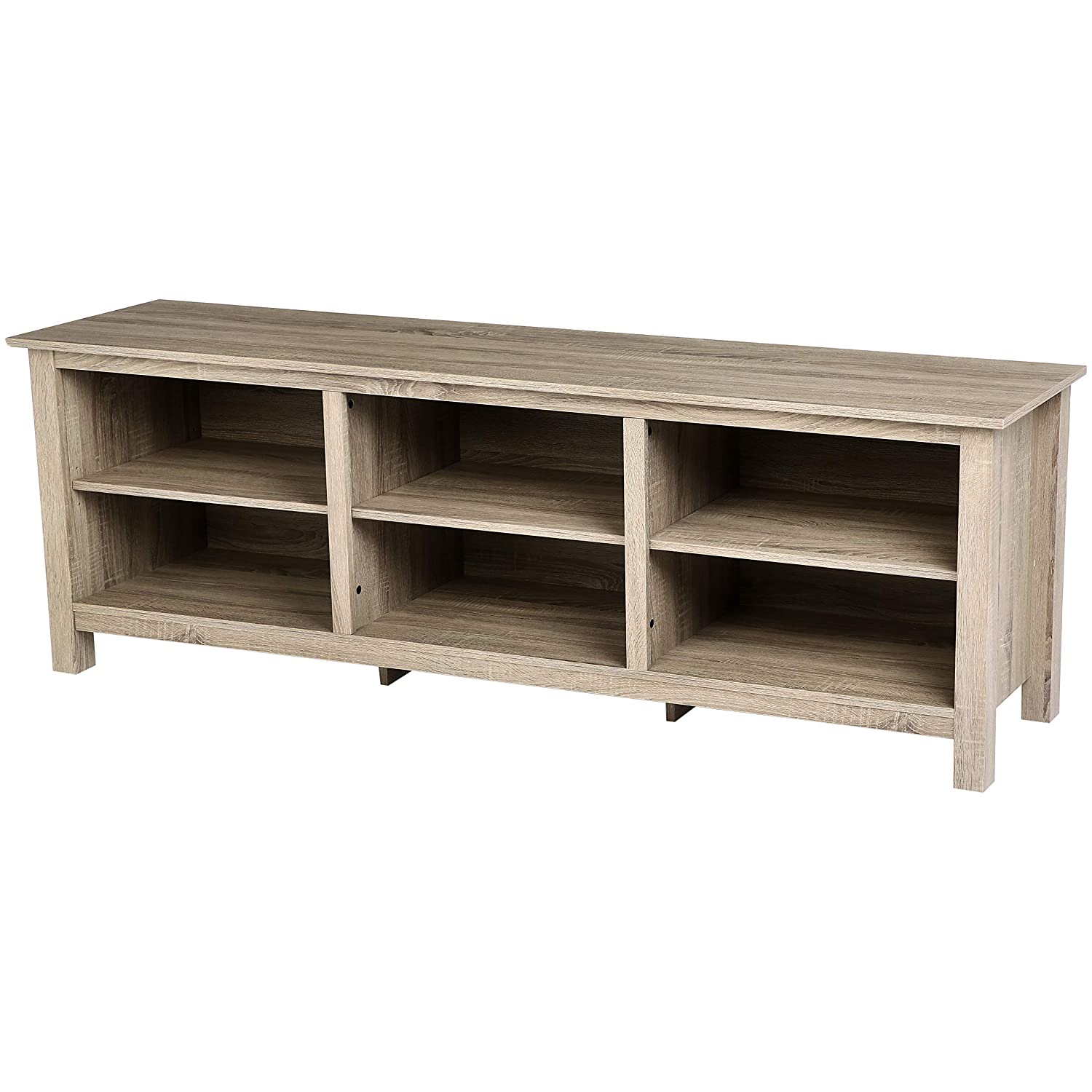 Amazon Com Rockpoint Argus 70 Inch Wood Tv Stand Media Console