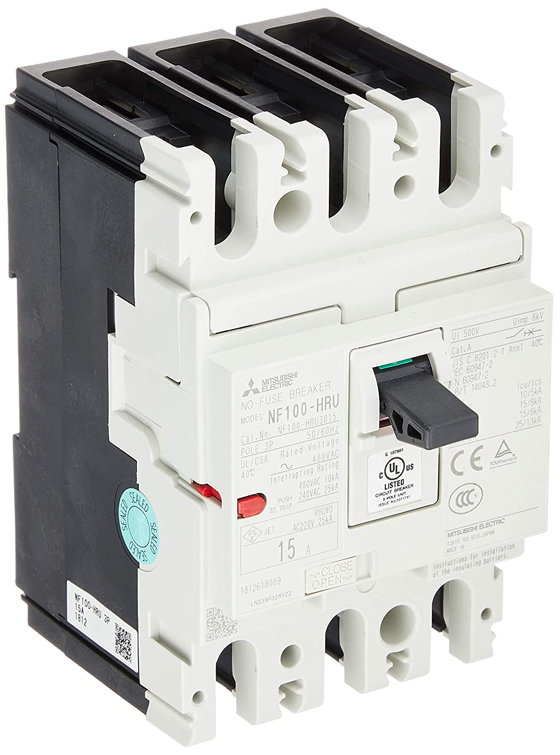 有名な高級ブランド 三菱電機 3P ノーヒューズ遮断器 HRUシリーズ UL 489 AC480V対応 IEC35mmレール取付標準対応 NF100-HRU NF100-HRU 3P B07J2QJV73 15A B07J2QJV73, テルショップジャパン:24eed1b0 --- a0267596.xsph.ru