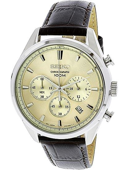3d837b07b7f9 Reloj Seiko Neo Classic SSB293P1 Hombre Dorado  Amazon.es  Relojes
