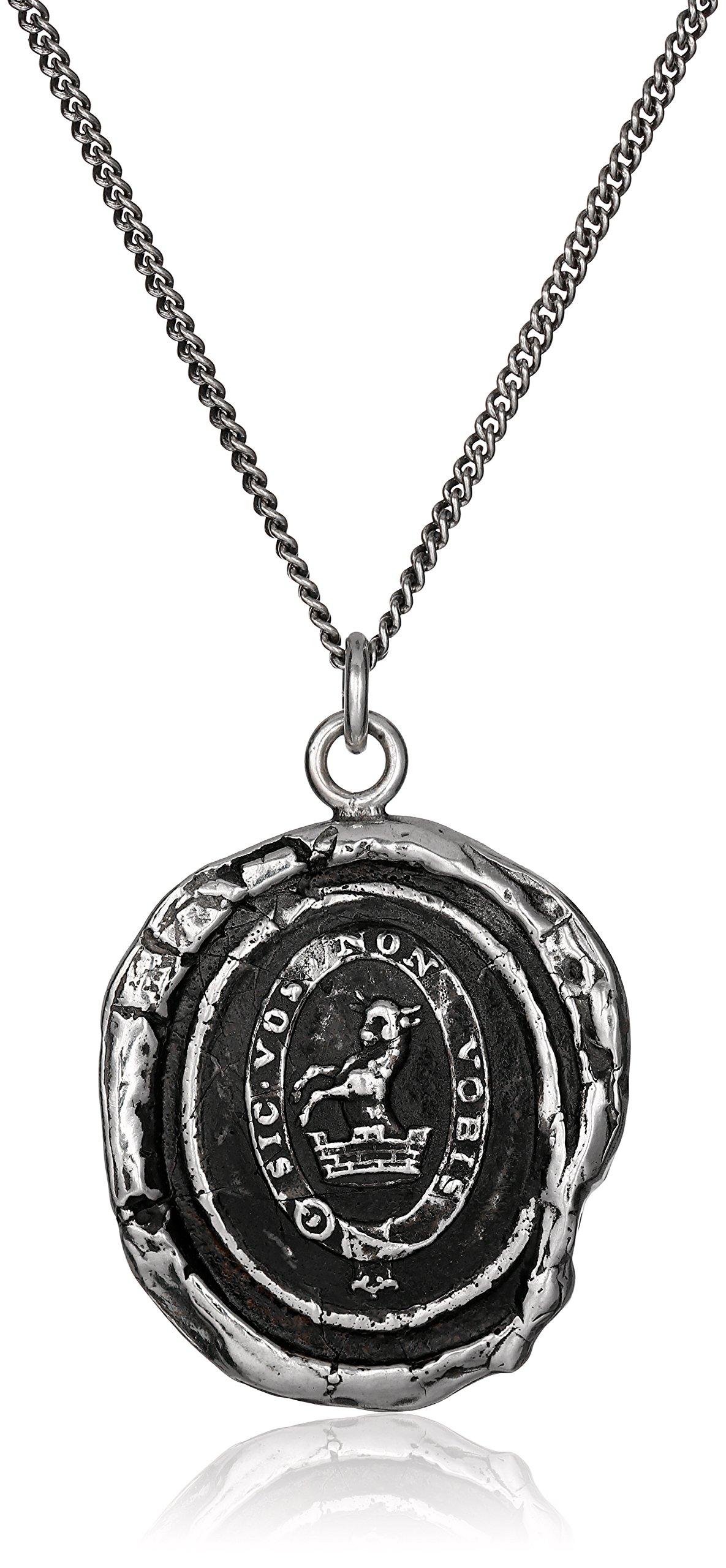Pyrrha Talisman Men's Sterling Silver Devoted Father Pendant Necklace, 22''