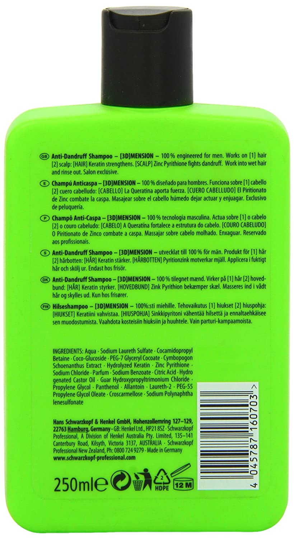 Schwarzkopf 3d Mension Champu Anticaspa - 250 ml