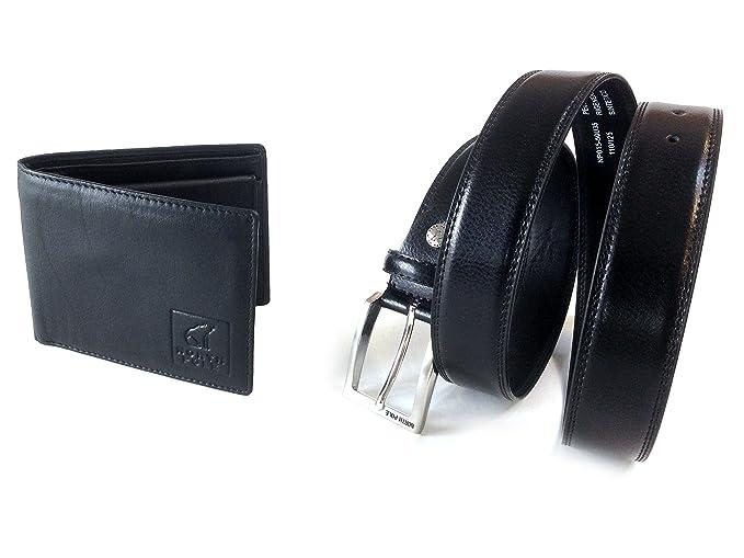 2539cd1b6c Confezione regalo parure NORTH POLE cintura classica e portafoglio in vera  pelle in confezione regalo (
