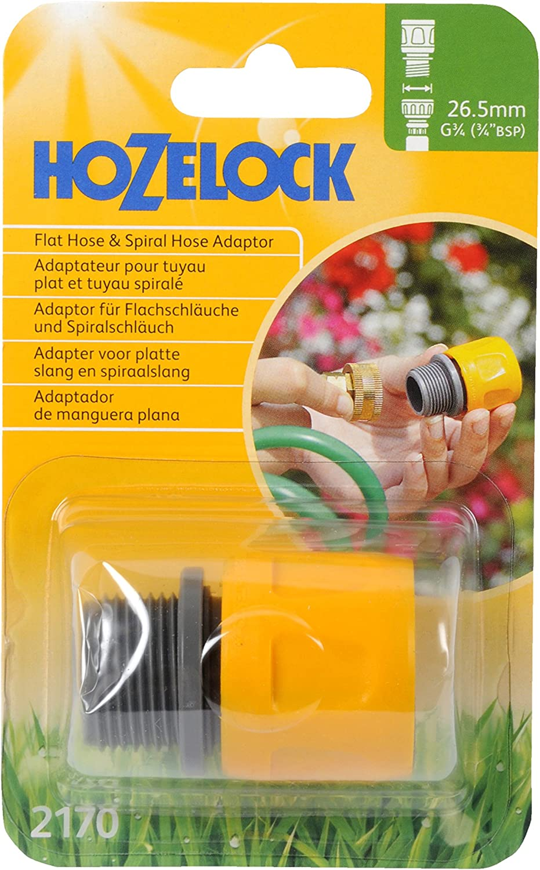 2 x Flat Hose /& Spiral Hose Adaptor