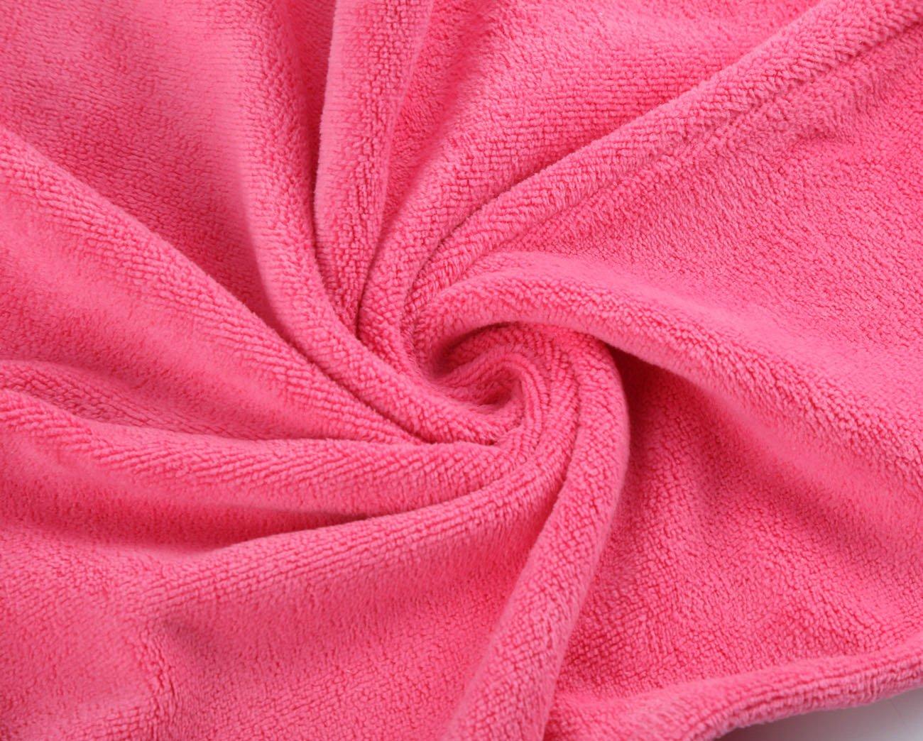 per Tutti Gli Stili di Capelli 2 Pezzi Turbante per Avvolgere i Capelli con Cappio Elastico Hairizone Rosa//Fucsia Asciugamano per Capelli in Microfibra ultrassorbente