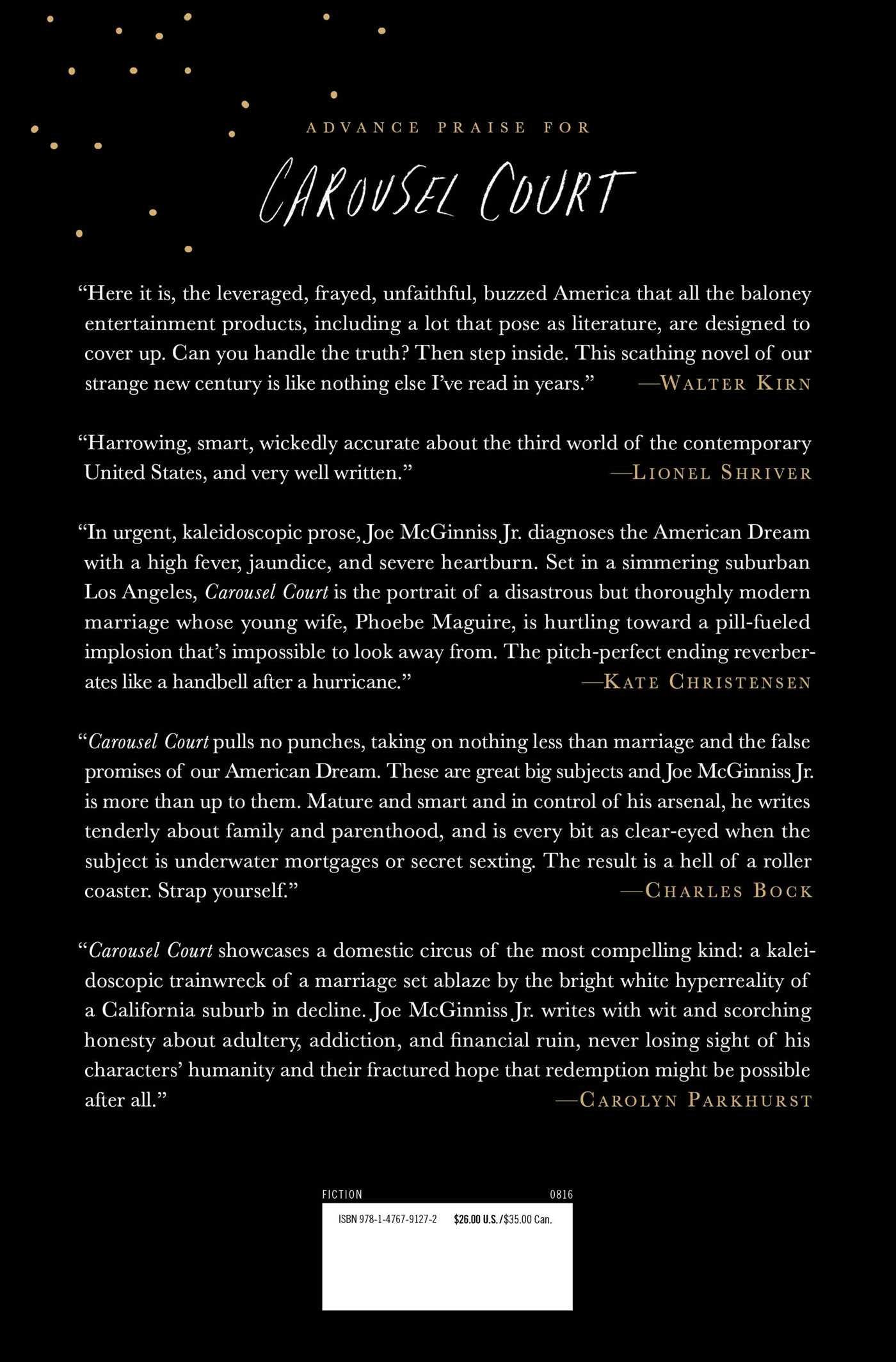 Amazon: Carousel Court: A Novel (9781476791272): Joe Mcginniss Jr:  Books