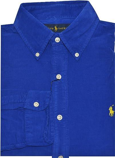 Ralph Lauren Hombres botón Abajo Camisa de Pana - -: Amazon.es: Ropa y accesorios
