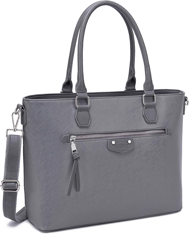 Laptop Bag for Women 15.6 Inch, Work Computer Tote, Structured Briefcase Handbag