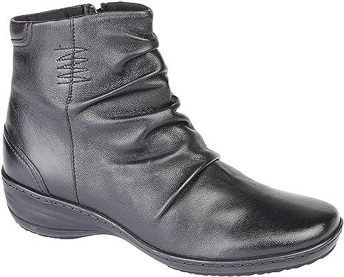 Ladies Womens New Softie Leather Memory