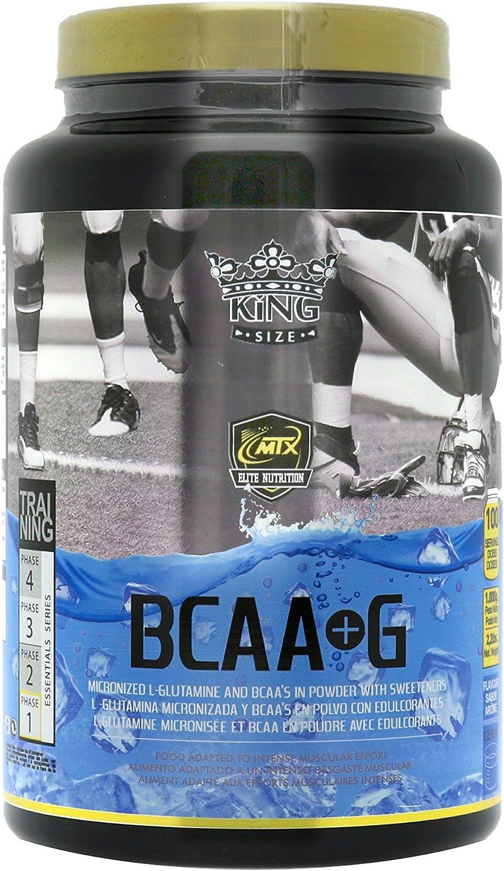 MTX nutrition BCAAS + G R.GOLD Gourmet [1,0 Kg] IceBlue (Tropical) - Aminoácidos PREMIUM de Cadena Ramificada (50%) + L- Glutamina (50%) ...