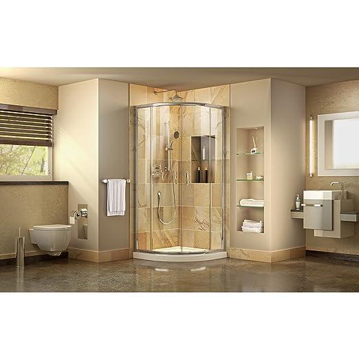 DreamLine Prime 36 in. D x 36 in. W Kit, with Corner Sliding Shower ...