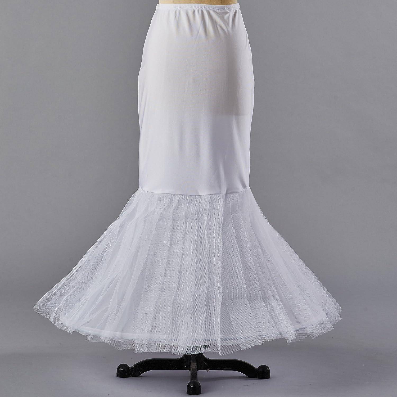Enagua miriñaque blanca de cóctel sirena para novia guardainfante de novia enagua falda paseo nupcial vestido de novia accesorios de la boda: Amazon.es: ...