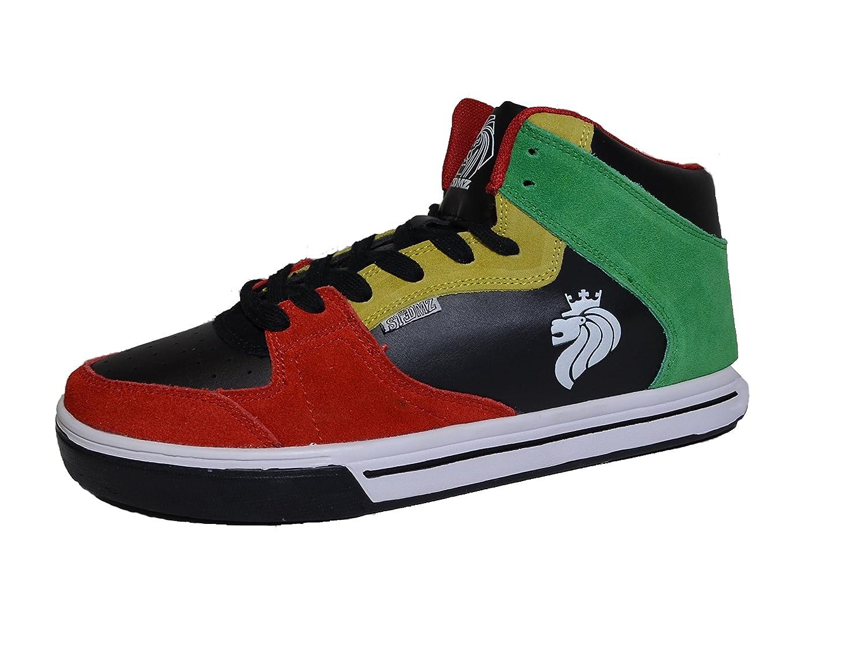 31f6e9fb39df6 Stedmz Rasta Mid Top Skateboard Shoes
