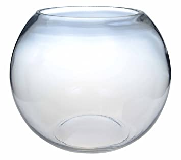 "6"" (15cm) Clear Glass Fish Bowl Bubble Ball Table Wedding Display Vase"