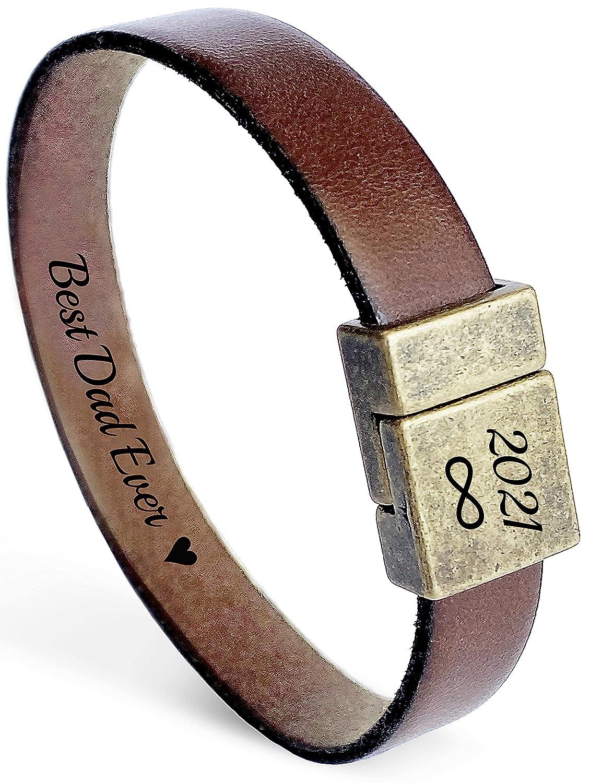 Testosterone Molecule Bracelet with Personalised Message