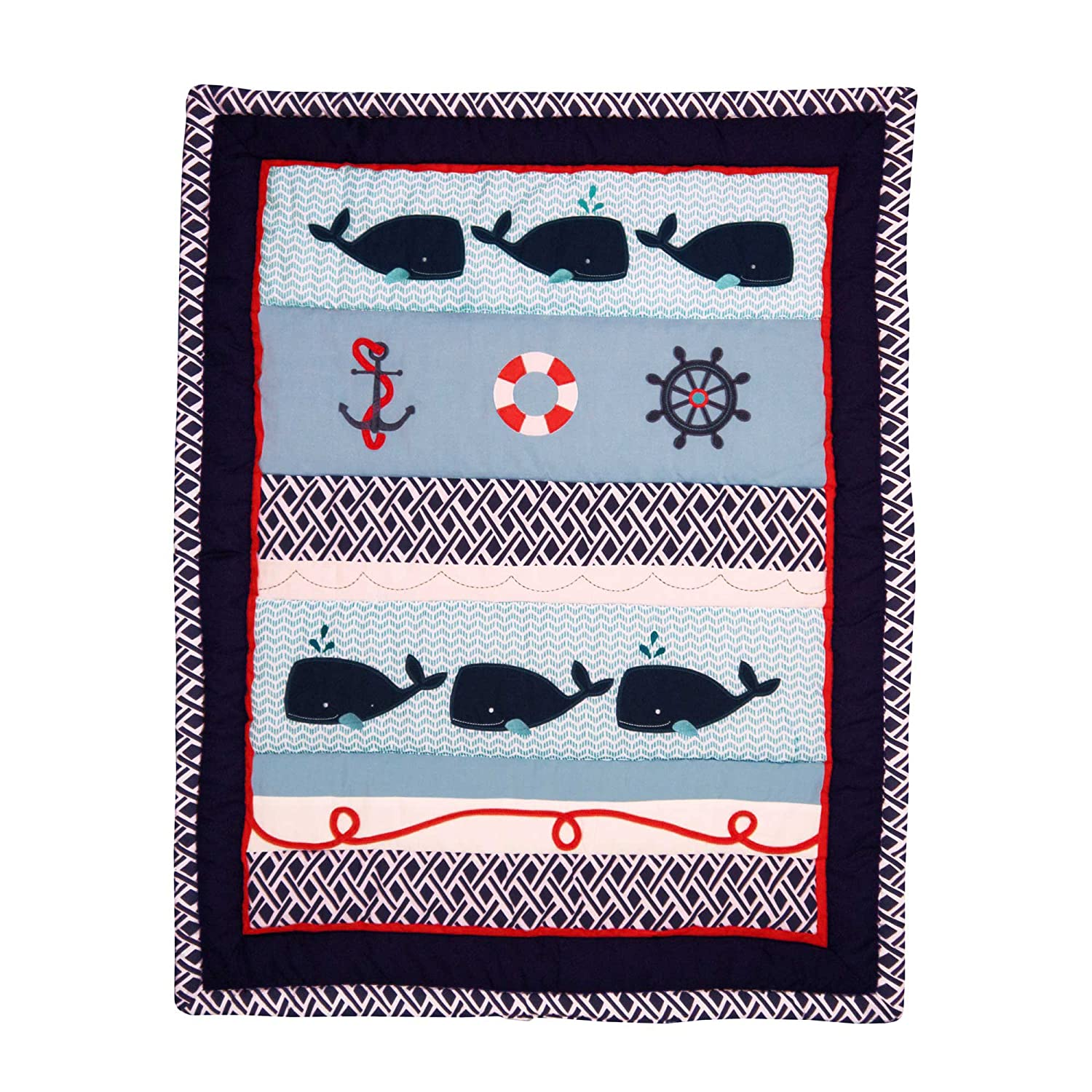 Nautica crib bedding whale - Amazon Com Whale Of A Tale 4 Piece Baby Crib Bedding Set By Nautica Kids Cell Phones Accessories
