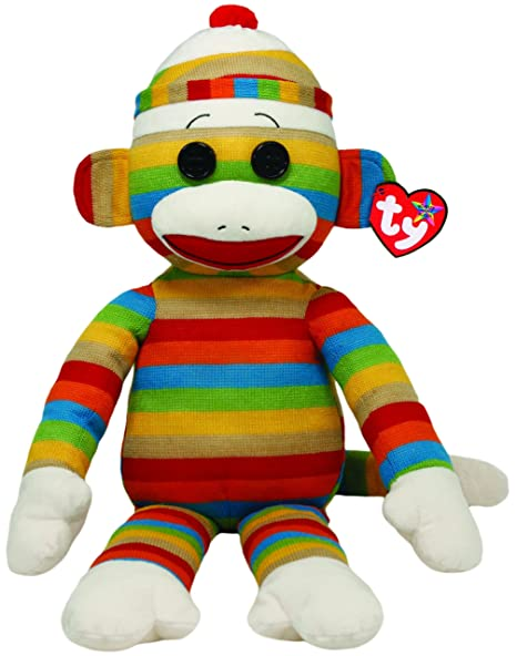 Image Unavailable. Image not available for. Color  Ty Beanie Buddies Sock  Monkey Stripes Large Plush ed9c3a58abe9