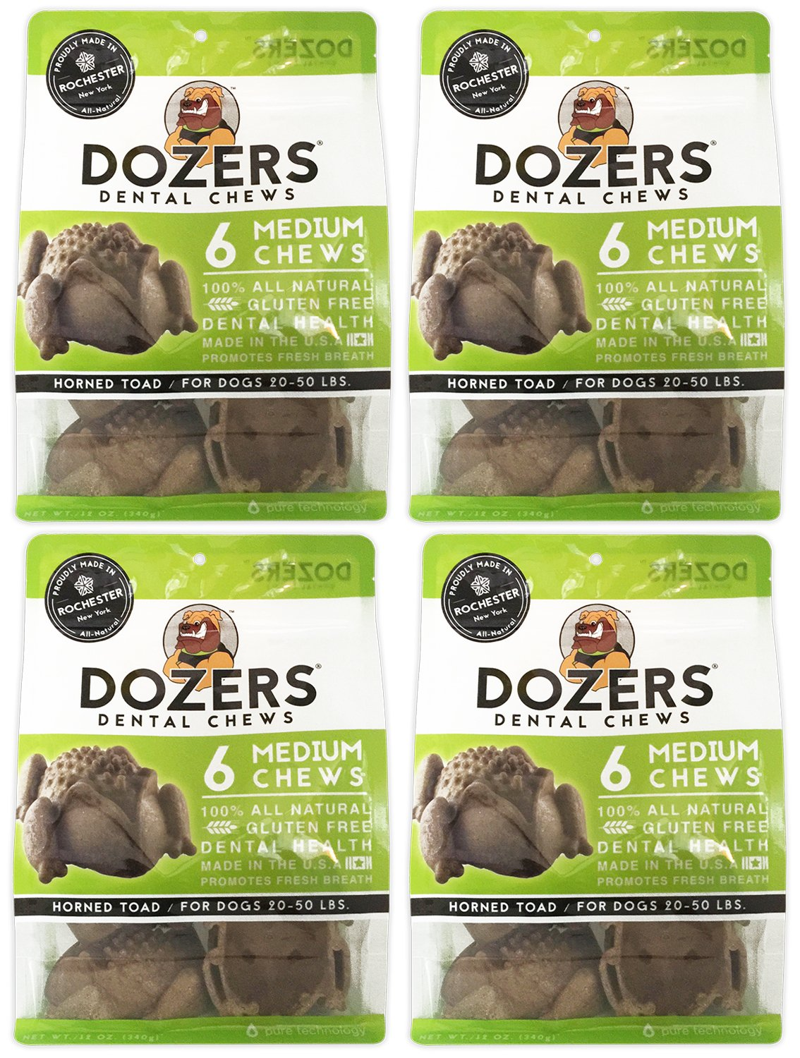 Dozers Dental Dog Chews – 100 All Natural Ingredients – Gluten Free Dental Healthy Delicious Dog Treat – Promotes Fresh Breath