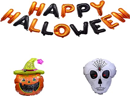 Halloween Helium Ghost Pumpkin Balloon /& Latex Balloons for Party Decoration