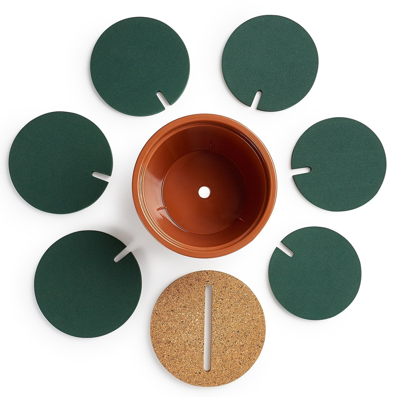 YIJIA DIY Household Round Cup Coasters Nonslip Heat Insulation Mat For Drink Holder 1 Set