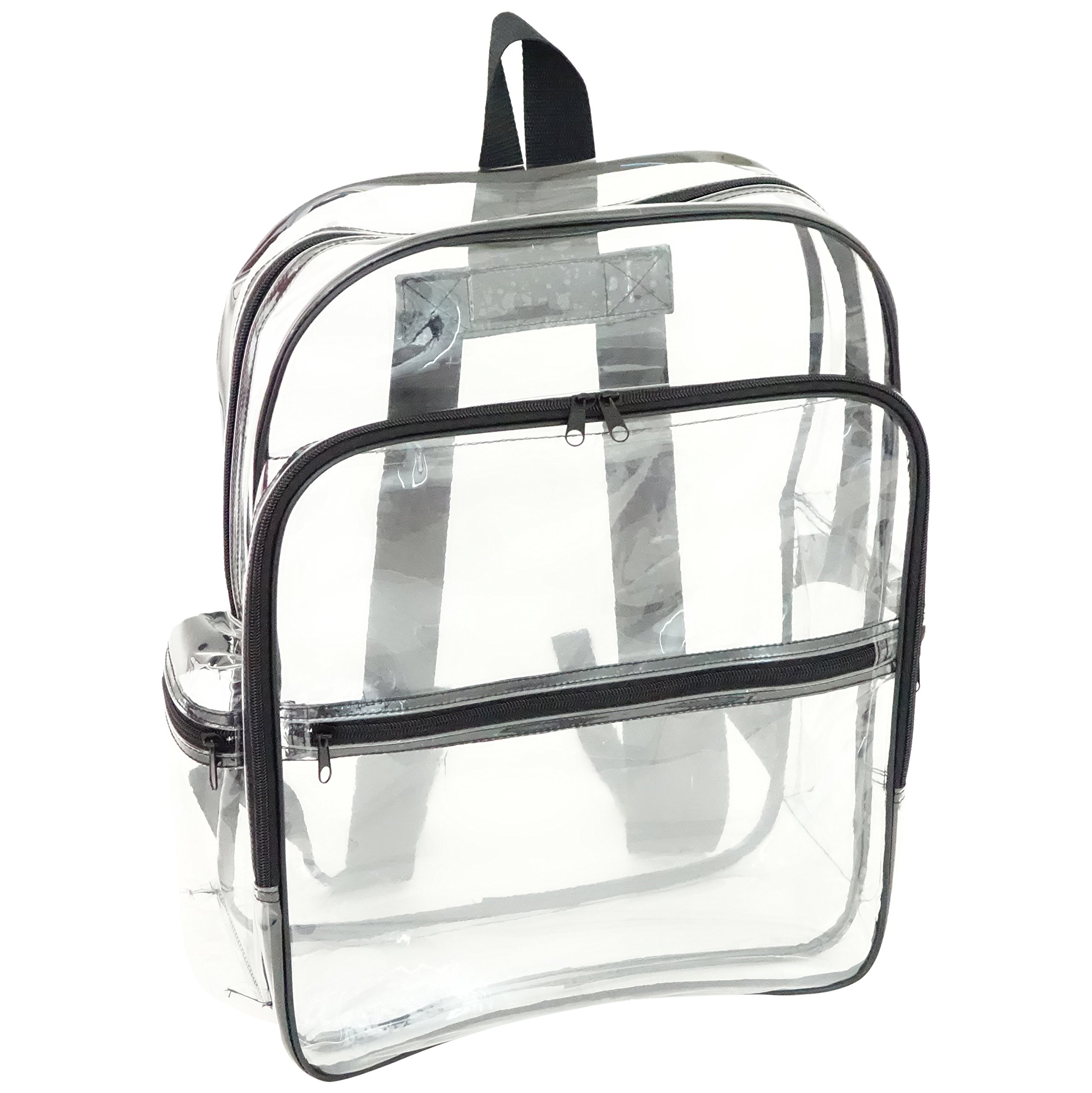 NuFazes Adult Sized Large Vinyl Clear Backpack by NuFazes