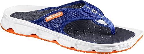 Salomon RX Moc 3.0, Stivali da Escursionismo Uomo, Blu (Surf The Web/White/Shocking Orange 000), 43 1/3 EU