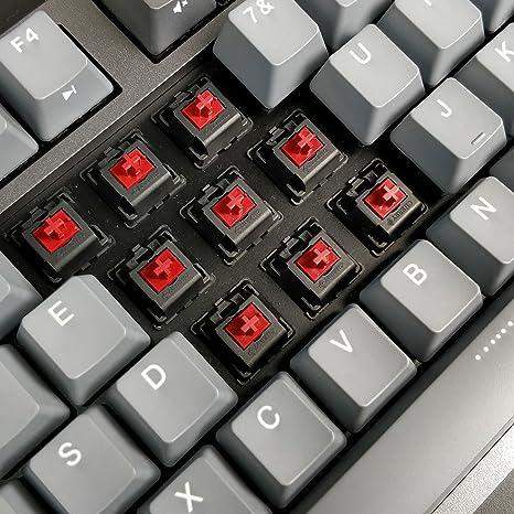 durgod máquina de Escribir Teclado mecánico Cherry MX interruptores de Color Rojo Tipo C Interfaz Teclado 87 Teclas numérico (con Protector contra el Polvo) ...