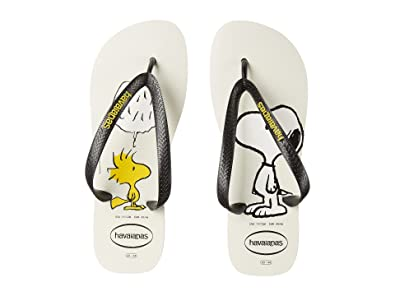 1890f35fb5e Havaianas Men s Snoopy Flip Flops White Black Sandal 39 40 (US Men s 8