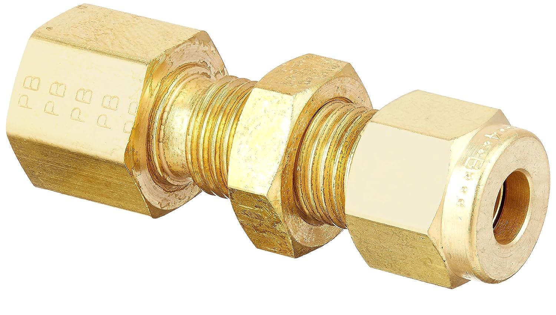 Parker A-Lok 4FBC2N-B Brass Compression Tube Fitting Bulkhead Adapter 1//4 Tube OD x 1//8 NPT Female 1//4 Tube OD x 1//8 NPT Female Parker Hannifin
