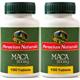 Peruvian Naturals Maca 800mg - 200 Tablets - Made with Raw Maca Root Powder from Peru for Energy and Vitality