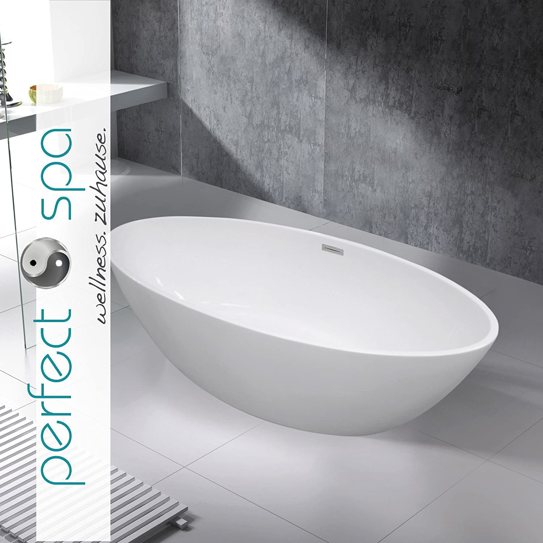 Wanne Freistehend spa freistehende badewanne turin wanne inkl ab und