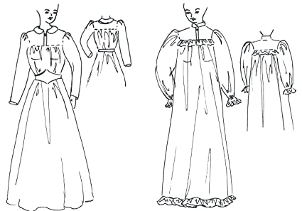 f3234f118b Image Unavailable. Image not available for. Color  Prairie Dress or Victorian  Nightgown Pattern