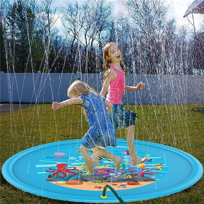 Alfombrilla hinchable de 170 cm, para jugar al agua, para el verano, para niños, para actividades familiares, para actividades al aire libre, fiestas, playa, jardín