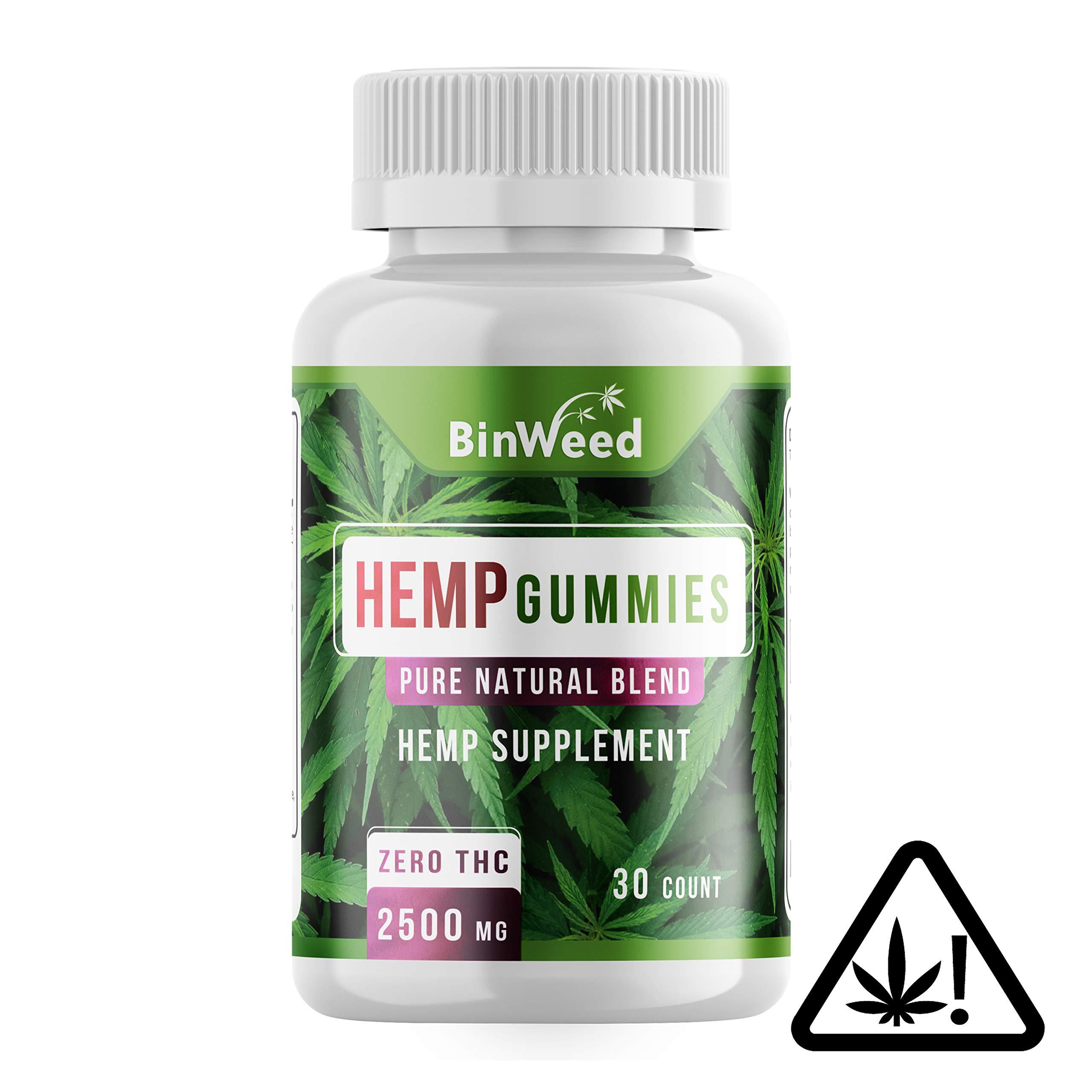 Maximum Strength Hemp Gummies   2500mg per Bottle, 84MG per Gummy   Relieves Pain, Stress, Anxiety, Inflammation, Insomnia