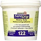 Rust-Oleum 69384 1-Quart SureGrip 122 Heavy Duty Clear Strippable Wallpaper Adhesive