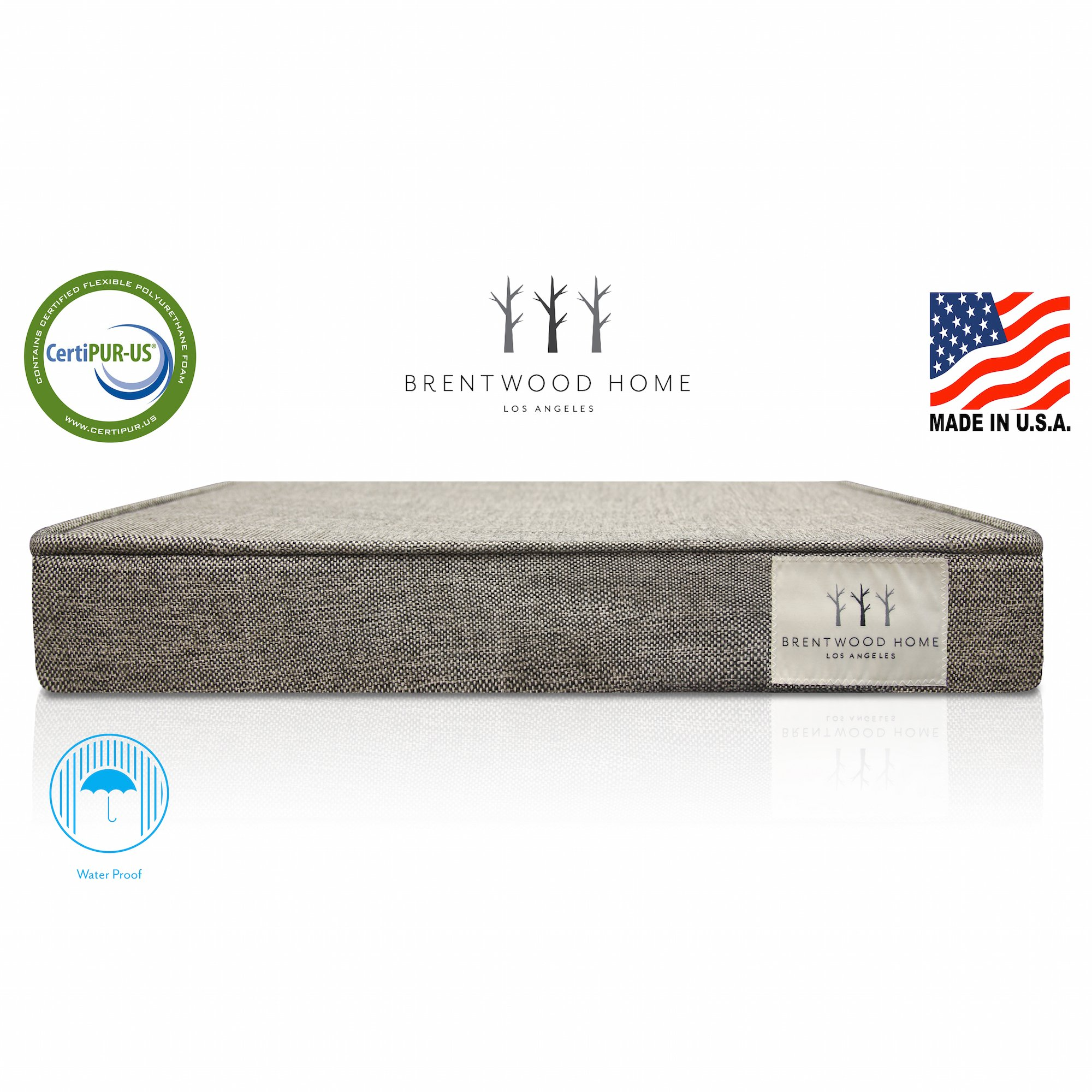 Brentwood Home Griffith Pet Bed Orthopedic Gel Memory Foam Made In