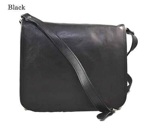 Bolso messenger de piel bolso de hombre piel bolso de mujer negro